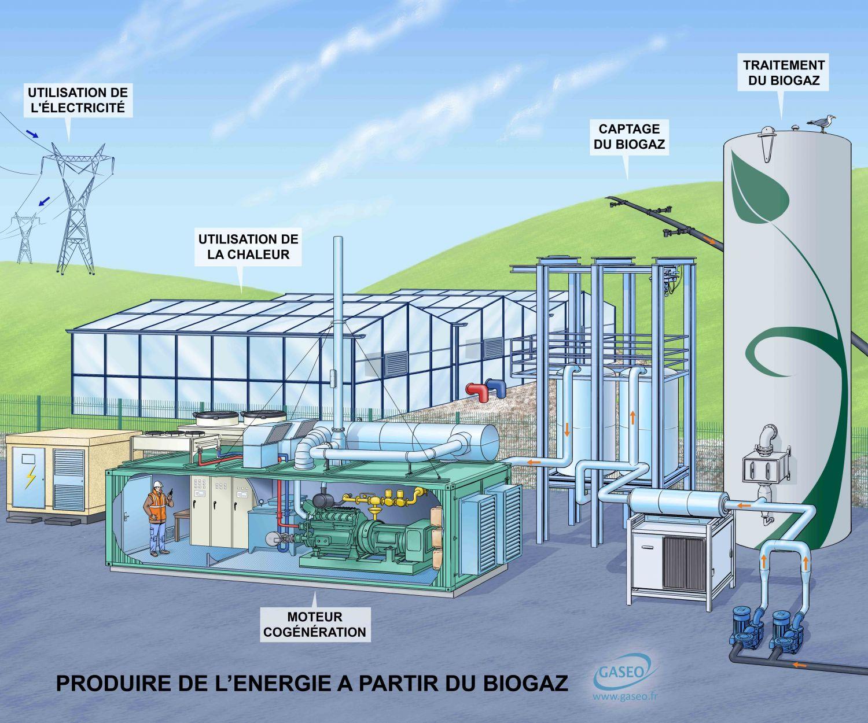 Schéma biogaz CUVES